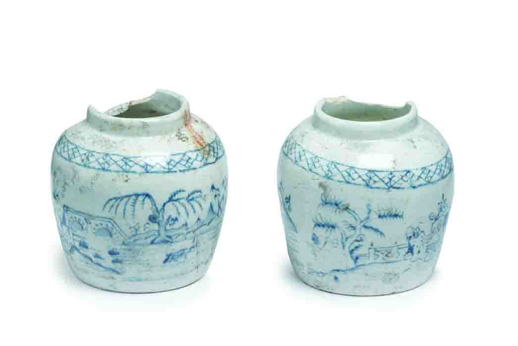 Decorated pots for Crosse and Blackwell preserved ginger (c) Crossrail