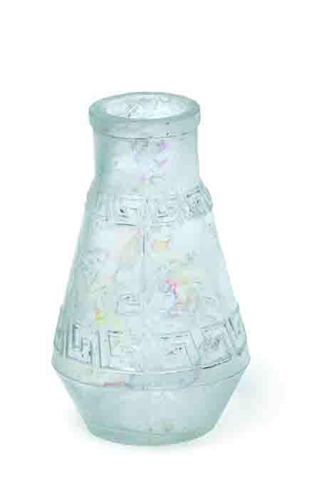 Glass vase with Greek key pattern (c) Crossrail