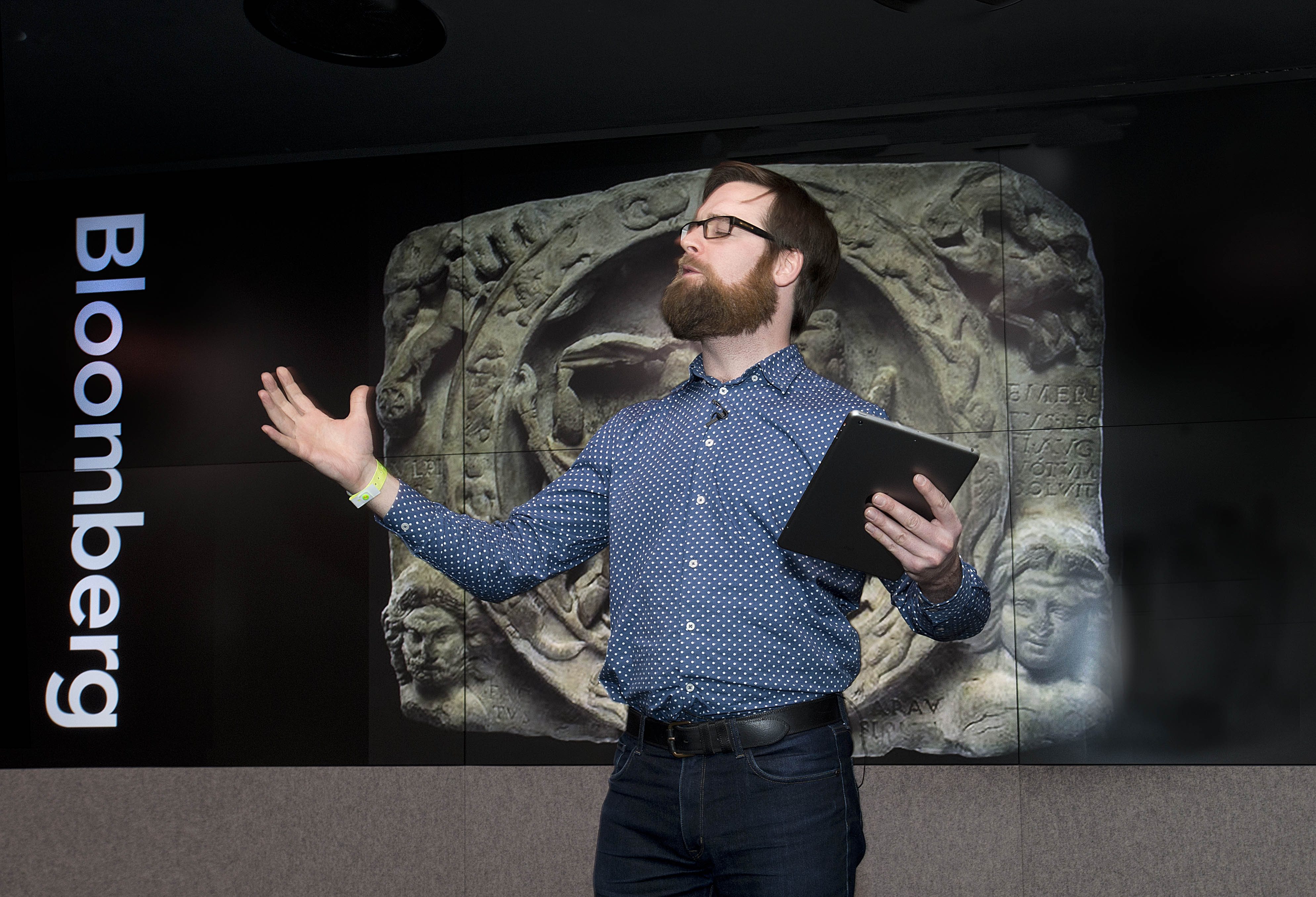 Dan Simpson reading his Temple of Mithras poem