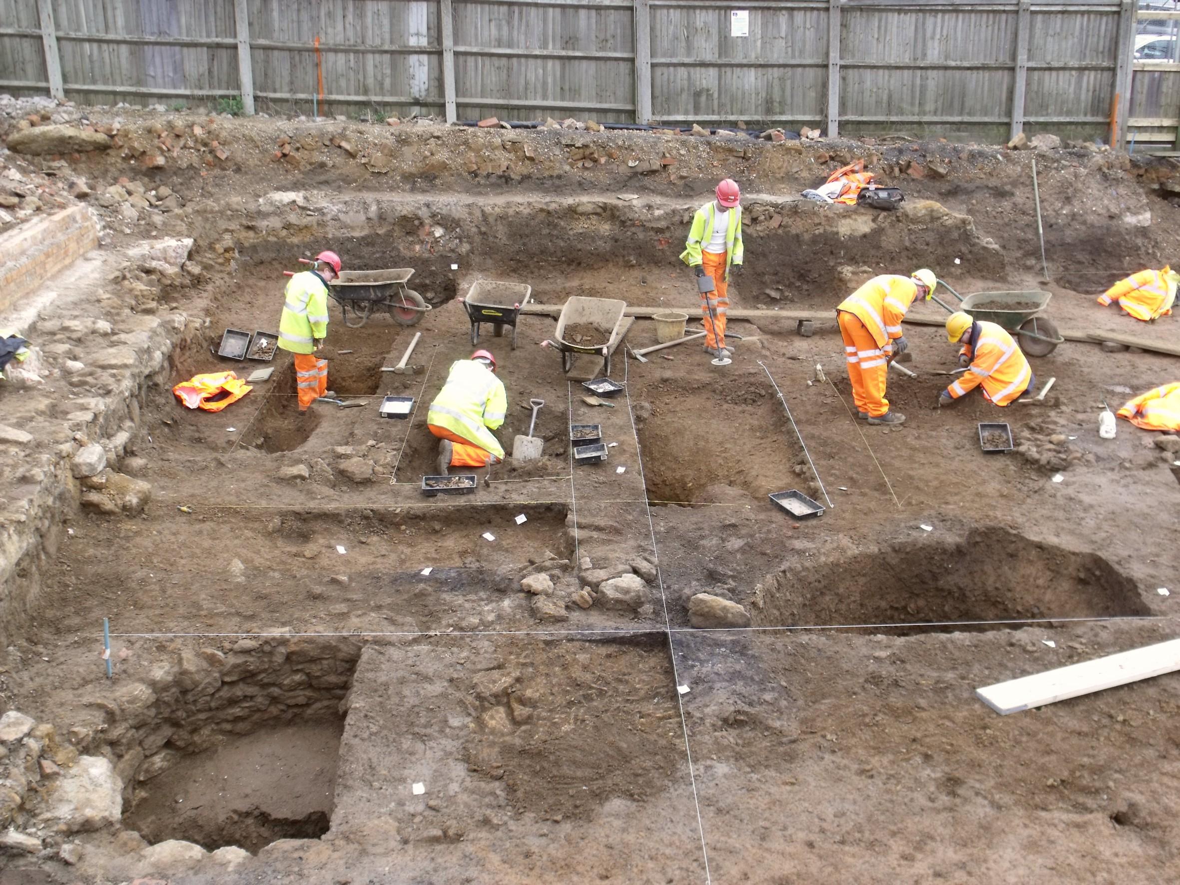 MOLA excavations at Angel Street, Northampton