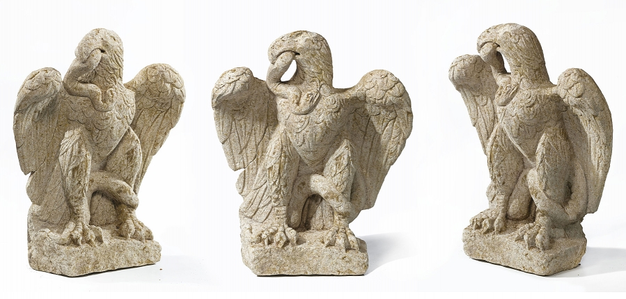 Roman eagle and serpent sculpture uncovered at Minories, London