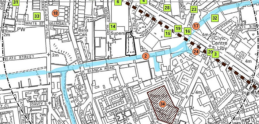 Heritage assets near to proposed Asda development