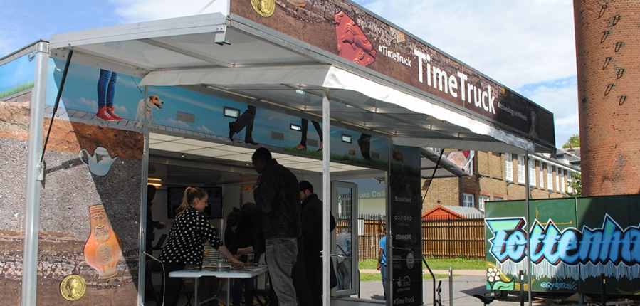 MOLA Time Truck brings archaeology to Tottenham