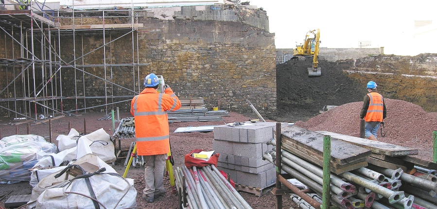 Archaeological work at the Southgate Centre, Bath