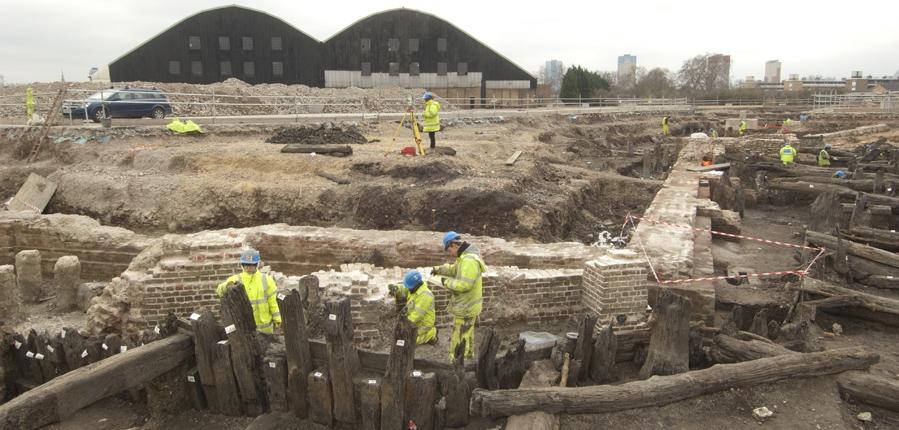 Archaeological investigation at Deptford Royal Dockyard