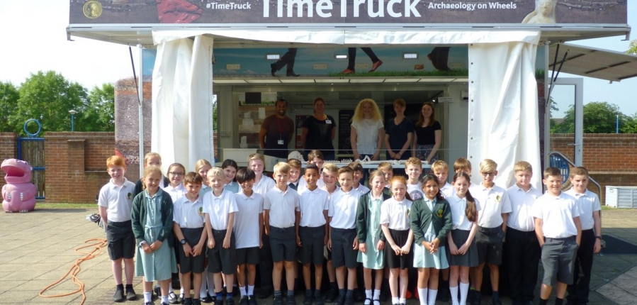 The Time Truck goes to Northampton High School