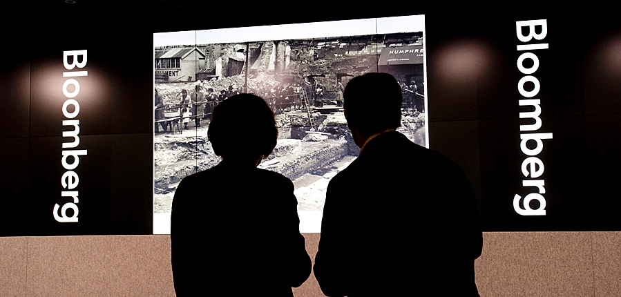 Couple looking at Temple of Mithras image from Bloomberg