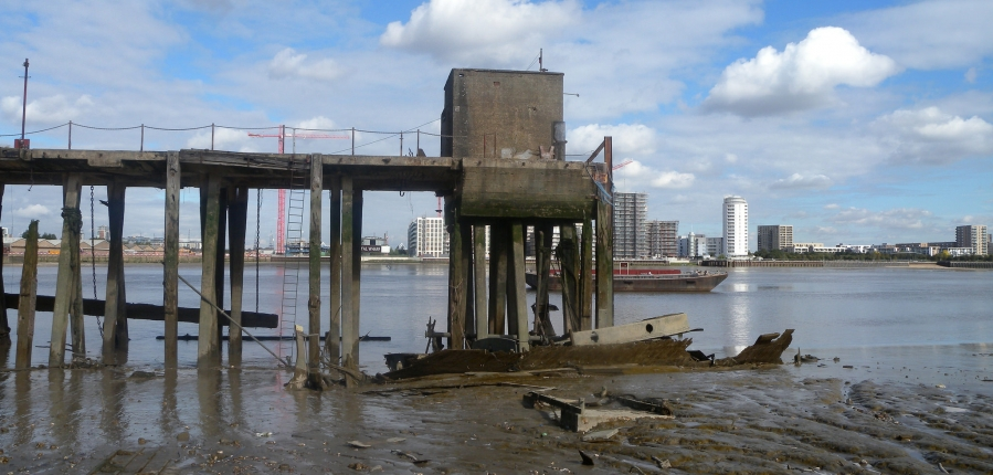 Hulked vessel on the River Thames (c) Thames Discovery Project