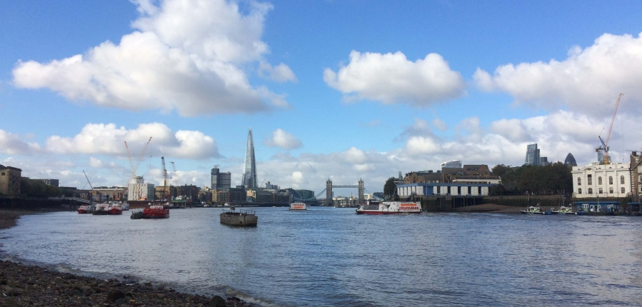 London from the Thames foreshore (c) MOLA