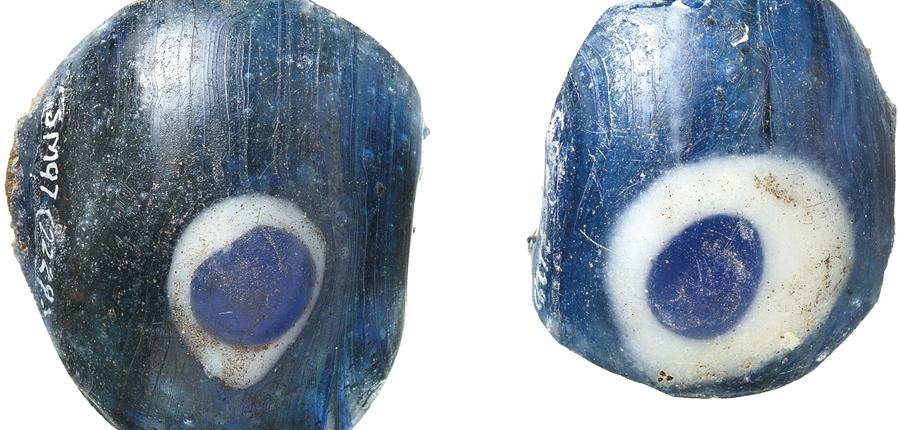 glass bead found in Roman context at 10 Gresham Street