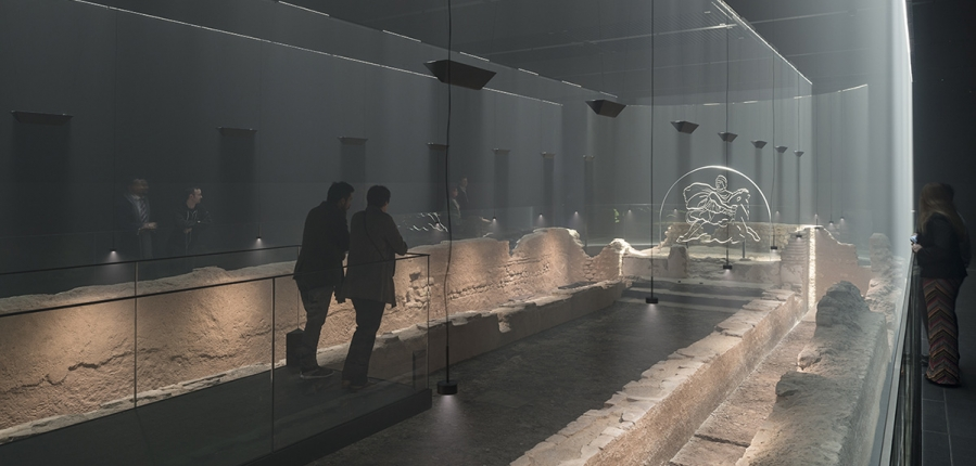 Temple of Mithras with light and haze (c) Bloomberg