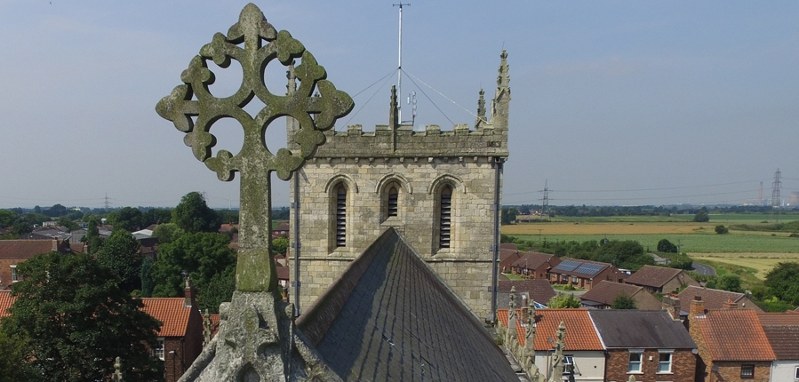 Snaith Priory St Laurence, historic building drone survey (c) MOLA