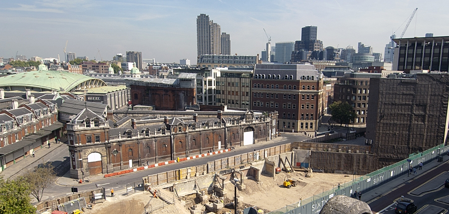Consturction on Holborn Viaduct