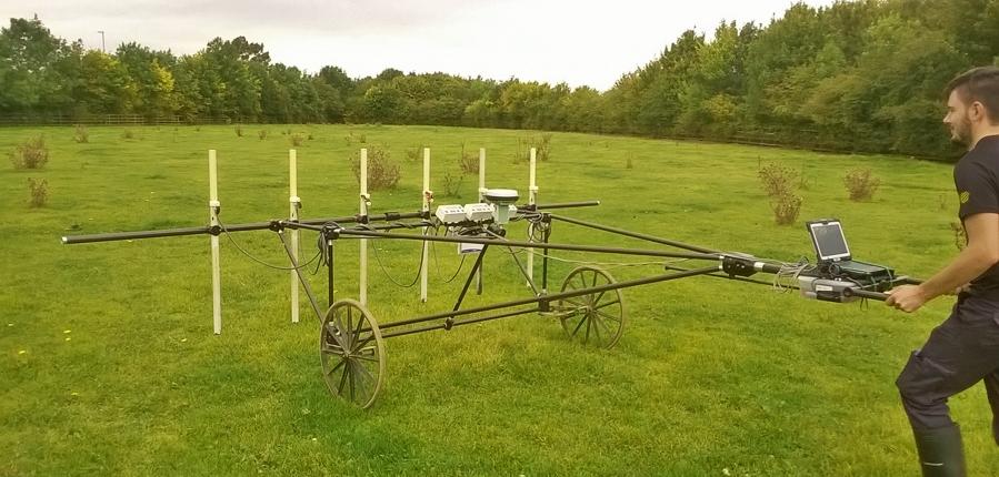Geophysical survey cart