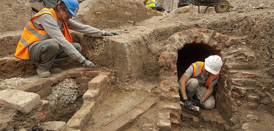 Excavation at Bath House development, 60 Holborn Viaduct