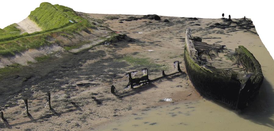 Wreck of the Danish Schooner Hans Egede, Cliffe, Kent - 3D model