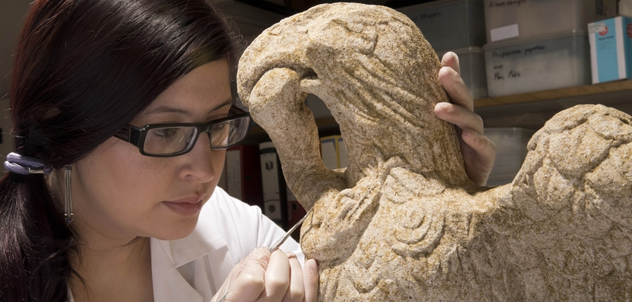 Archaeological conservation of Minories eagle