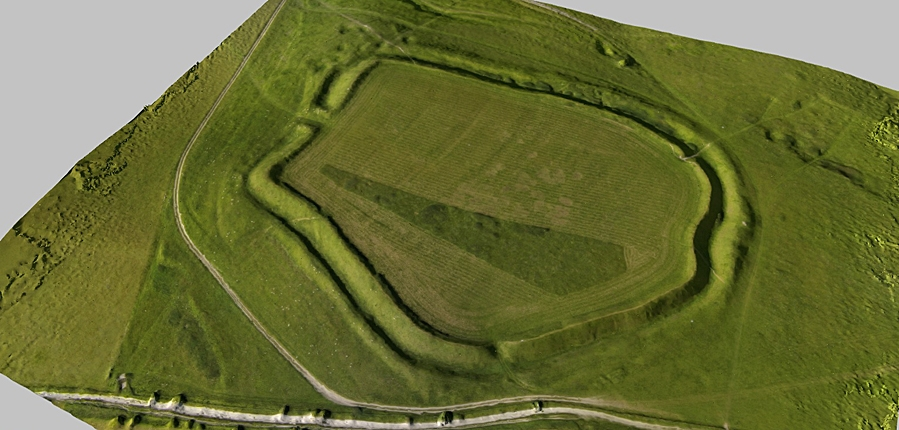3D model of Uffington Castle Iron Age Hillfort