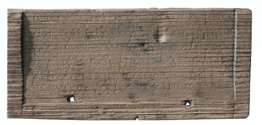 Bloomberg writing tablet 30 '...I ask you in your own interest not to appear shabby...' archaeologically dated to Ad 43-53 (c) MOLA