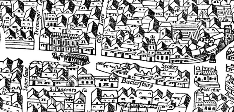 Agas/Civitas Londinium, 1560 (Original image © London Metropolitan Archives)