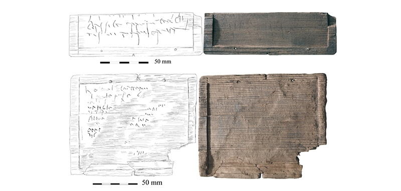 The two tablets debuting at the British Museum this month, known to archaeologists as <WT33> and <WT48>.