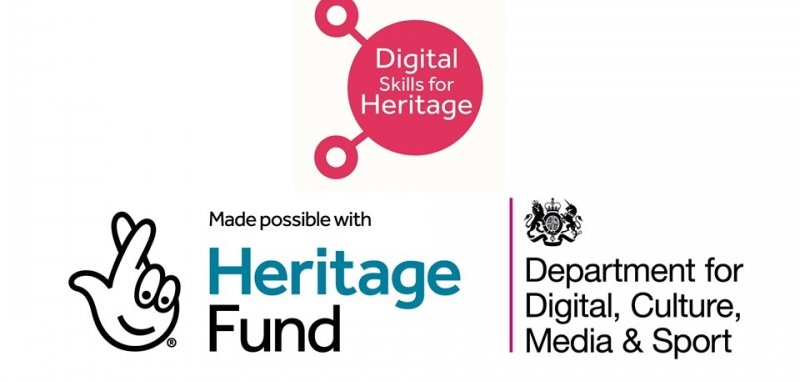 The DCMS, Heritage Fund, and Digital Skills for Heritage logos