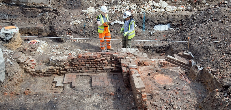 A 360° look at an 18th Century Kiln from the Boar's Head Excavation Site