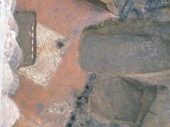Roman mosaic found by MOLA archaeologists at 10 Gresham Street