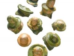 16th century money pot finials (c) MOLA