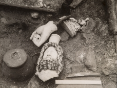 Roman sculptures from Temple of Mithras (c) Museum of London