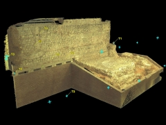 3D Image of Roman Wall produced using geomatics laser surveys (c) MOLA