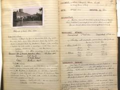 Unpublished log book recording incidents (c) London Metropolitan Archive