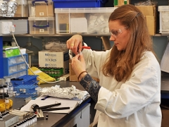 A researcher at the University of Bristol prepares a sample for radiocarbon dating (c) University of Bristol.jpg