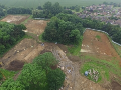 An overview of the MOLA excavation areas at Wood Burcote (c) MOLA