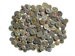 Ancient coins discovered at Scotney Castle ©MOLA