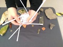 Children make miniature fish traps (c) MOLA