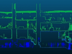 Laser scanned cross section of Canons Ashby House (c) MOLA