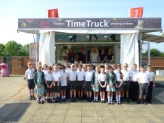 Time Truck takes archaeology to Northampton High School