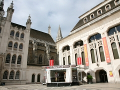 The MOLA Time Truck in the Guildhall Yard (c)MOLA