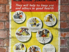 A public health poster found by MOLA buildings archaeologists during a built heritage survey of the basement of Drapers' Hall (c) MOLA
