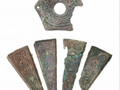 Display of Roman Enamelled Flask discovered by MOLA archaeologists