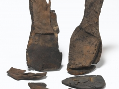 2) Mid to late 16th-century leather shoe