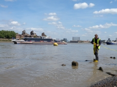 Thames Discovery Programme on the foreshore at Greenwich (c) Thames Discovery Programme