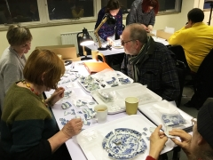 MAAST participants learn how to sort and match up pieces of broken ceramics (c) MOLA