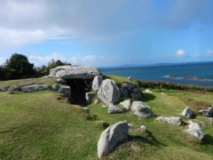 The Bant's Carn Neolithic burial chamber on St Mary's, Isles of Scilly