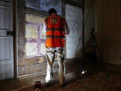 Laser scanning at Canons Ashby House in Northamptonshire (c) MOLA