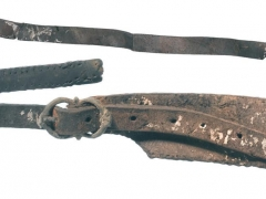 Late 16th century part of a three-part horse harness strap (c) Crossrail