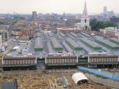 The excavation at Spitalfields in East London