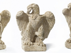 Roman eagle and serpent sculpture