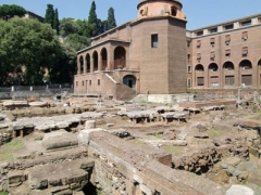 Sant' Omobono archaeological park in Rome.